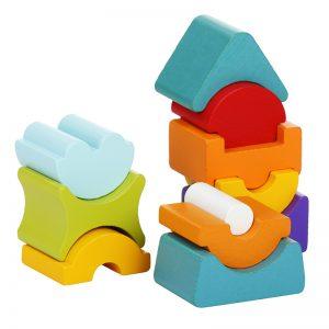 12862-1-CUBIKA Drveni balans toranj - 11 elemenata