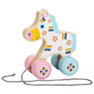 13371-1 CUBIKA Drvena igračka na povlačenje - KONJIĆ