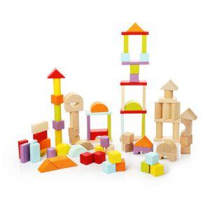 13821-1 CUBIKA Drvene kocke blokovi - 80 elemenata