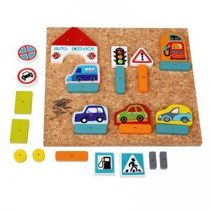 13883-1 CUBIKA Drvena razvojna igračka SAOBRAĆAJ - 30 elemenata
